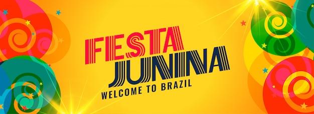Feiertagsdesign festa junina brasilien