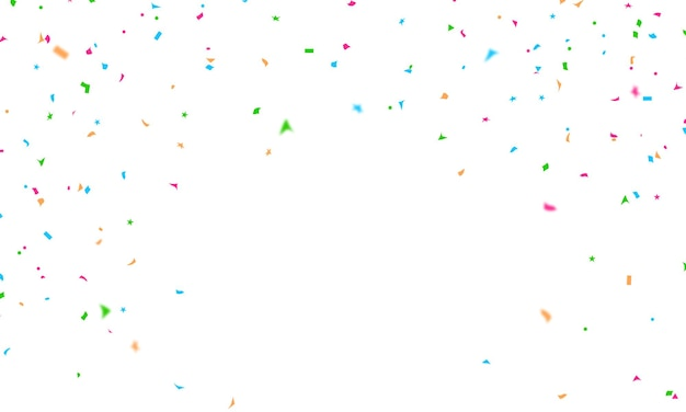 Feiertagsförderung konfetti-designschablone, hintergrund-feier-vektorillustration