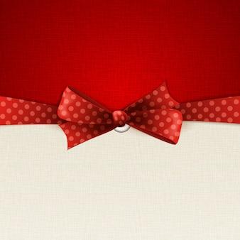 Feiertagshintergrund mit rotem tupfenbogen