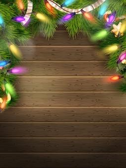 Feiertagsillustration mit weihnachtsdekor.