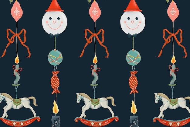 Feiertagsmuster, weihnachtsnahtloser hintergrundvektor