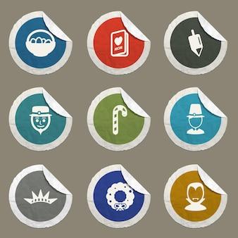 Feiertagssymbole für websites und benutzeroberfläche