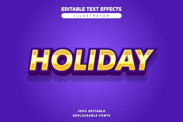 Feiertagstext-effekt bearbeitbar