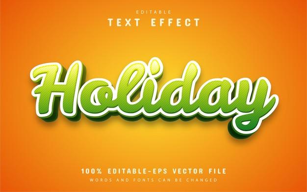 Feiertagstext, texteffekt im cartoon-stil