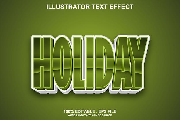 Feiertagstexteffekt editierbar