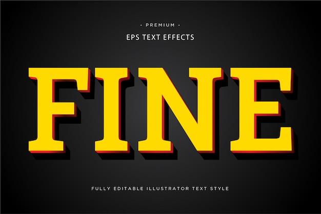 Feiner gelber effekt des textes 3d