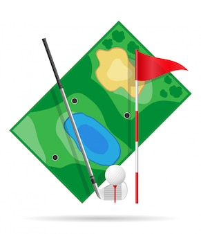 Feld für golf.