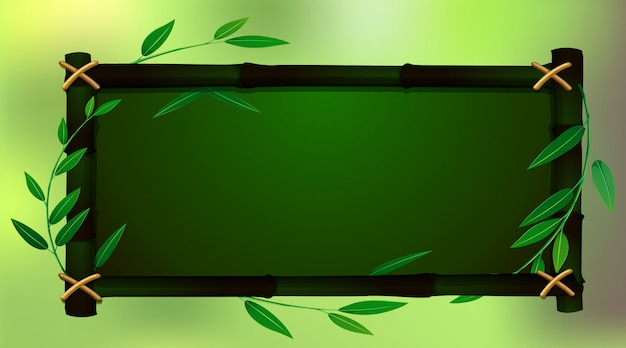 Feldschablone mit grünem babmoo