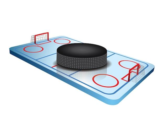 Feldvektor des hockeys 3d