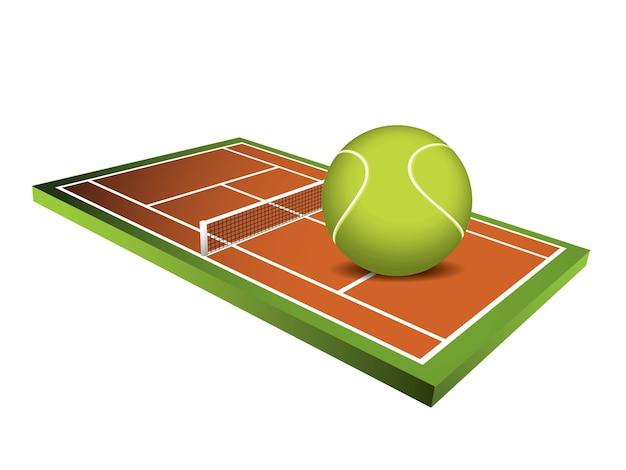 Feldvektor des tennis 3d