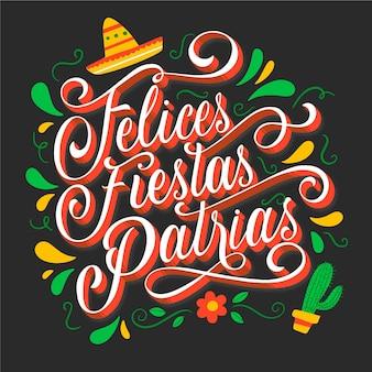 Felices fiestas patrias - schriftzug