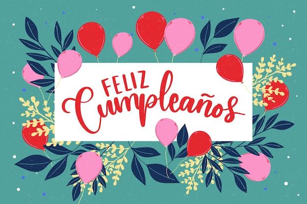 Feliz cumpleaños schriftzug