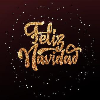 Feliz navidad auf dem hintergrundlicht bokeh
