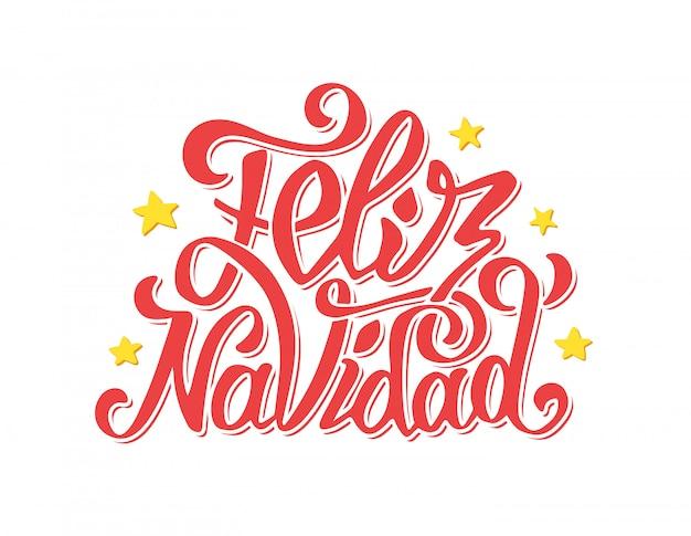 Feliz navidad schriftzug. frohe weihnachtsgrüße