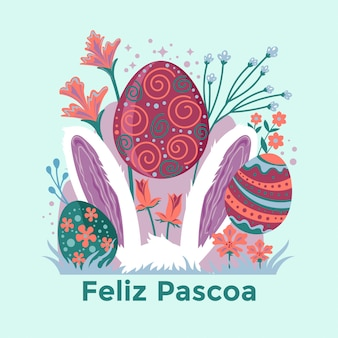 Feliz pascoa illustration