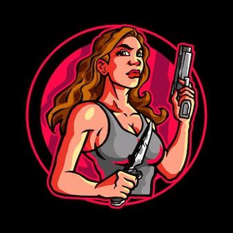 Female assassin secret agent