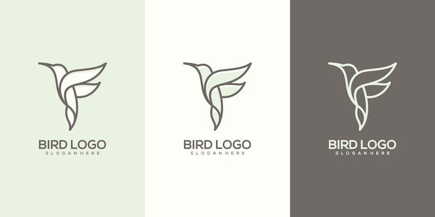 Feminim abstraktes vogellogo gebrauchsfertig