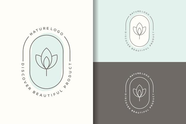 Feminime lotus logo design vorlage
