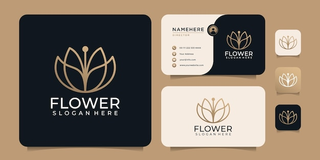 Feminine beauty spa hotel resort logo vektor designelemente