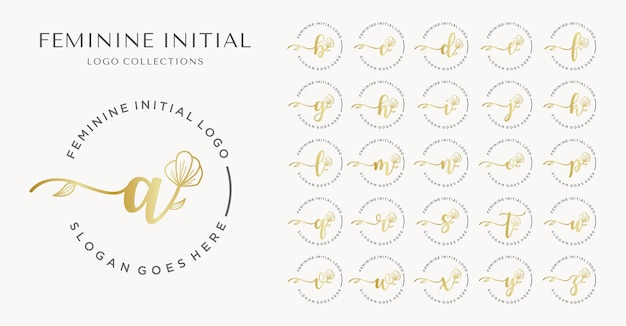 Feminine erste logo-kollektion.