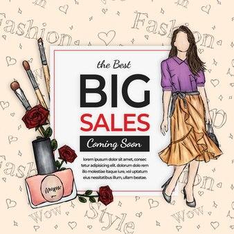 Feminine fashion sales banner