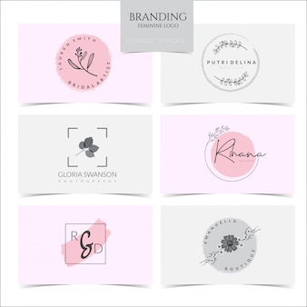 Feminine logo-kollektion