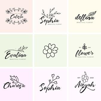 Feminine premade branding logo bundle vorlage