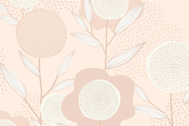 Femininer floral gemusterter vektorhintergrund in rosa