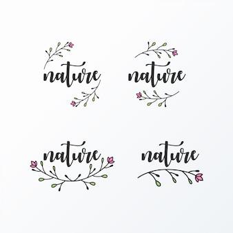 Feminines logo einfach und elegant