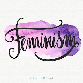 Feminismus konzept hintergrund