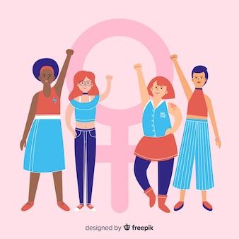 Feminismus-konzept