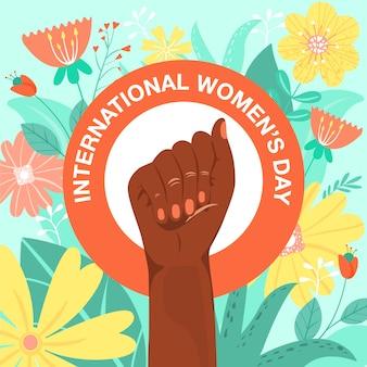 Feminismus-symbol. kämpfe für die rechte und die gleichheit.