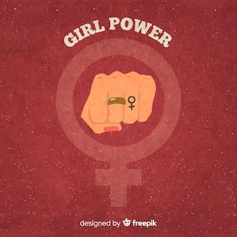 Feministische komposition mit grunge-faust