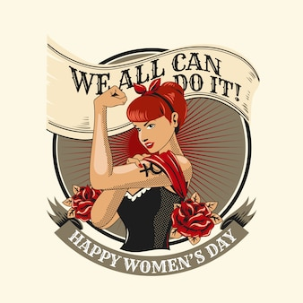 Feministische symbolillustration der frauen