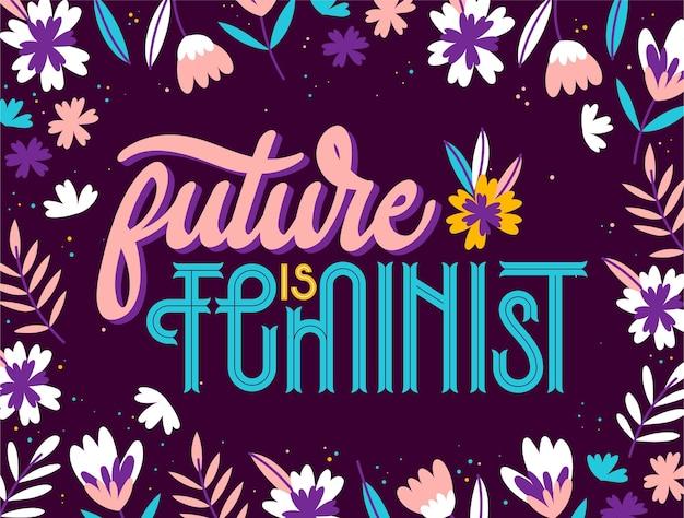 Feministischer schriftzug