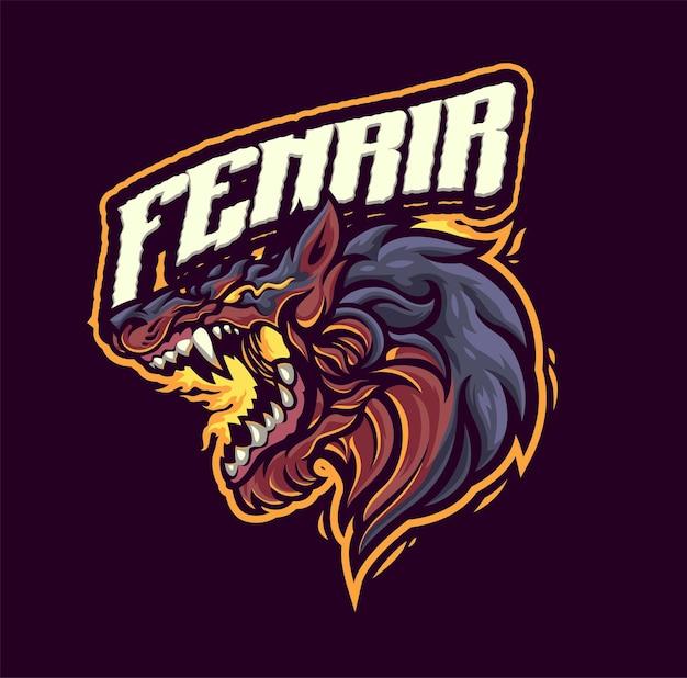 Fenrir maskottchen logo vorlage