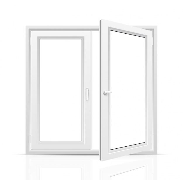Fenster auf weißem hintergrund.