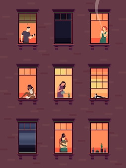Fenster mit nachbarn