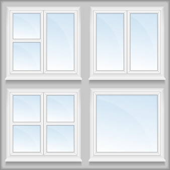 Fenster mit schwellen