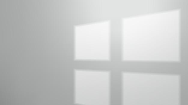 Fensterschatten an leerer wand