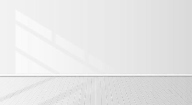 Fensterschatten in einem weißen raum