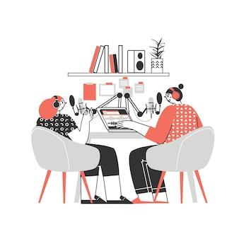 Fernarbeit oder fernunterricht arbeit zu hause freiberuflicher charakter, der von zu hause aus arbeitet praktische arbeitsplatzwohnung illustration mann und frau selbstständiges konzept