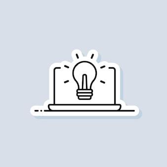 Fernbildung, e-book-aufkleber. banner für online-bildung oder fernprüfung. e-learning-kurs von zu hause, online-studium. vektor auf isoliertem hintergrund. eps 10.