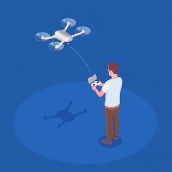 Ferngesteuerter quadrocopter-aufbau