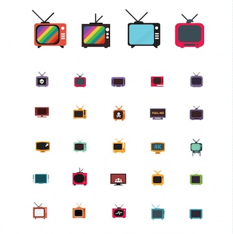 Fernsehen entwirft kollektion