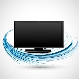 Fernseher mit blauen wellen