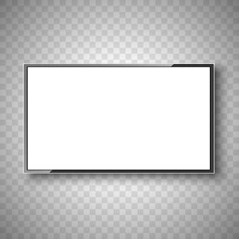 Fernseher. weißer bildschirm. monitor. Premium Vektoren