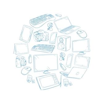 Fernsehvideo und computergerät