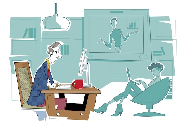 Fernunterricht im internet. online-bildungsplattform, workshop- und sprachunterricht, videoanruf, bildungswebinar, kurse für persönliche nachhilfelehrer.
