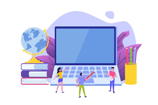 Fernunterricht online-bildung video-tutorials konzepte vektor-illustration